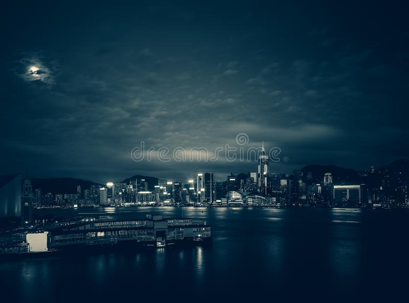 Hong Kong Victoria Harbor day and night. Hong Kong Victoria Harbor, photo token with Canon 5D mark III royalty free stock photography