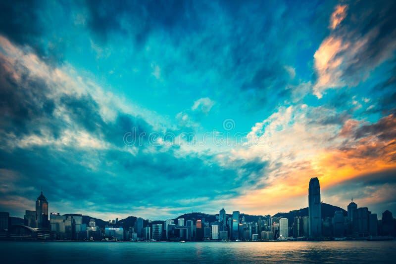 Hong Kong Victoria Harbor day and night. Hong Kong Victoria Harbor, photo token with Canon 5D mark III stock photos