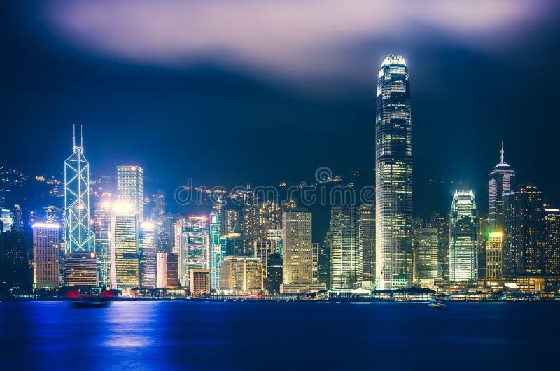 Hong Kong Victoria Harbor day and night. Hong Kong Victoria Harbor, photo token with Canon 5D mark III royalty free stock photo