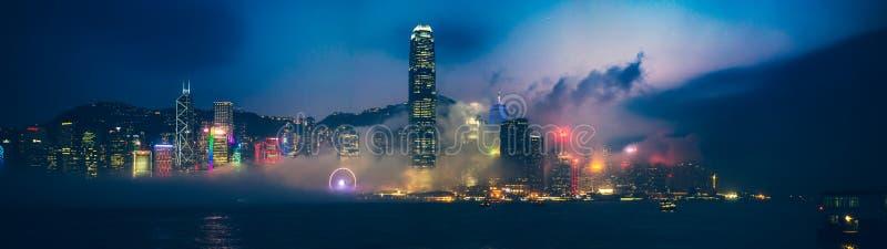 Hong Kong Victoria Harbor day and night. Hong Kong Victoria Harbor, photo token with Canon 5D mark III royalty free stock images