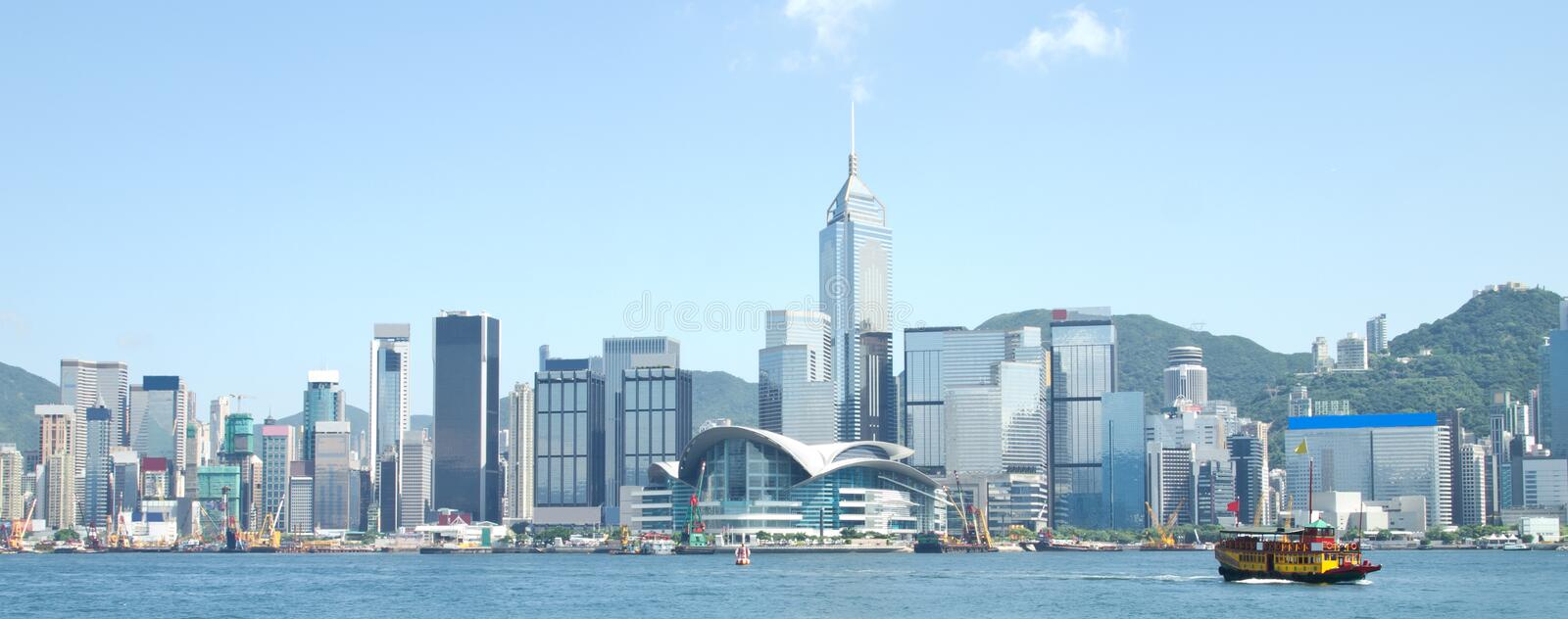 Download Hong Kong Victoria Harbour stock image. Image of modern - 20720001
