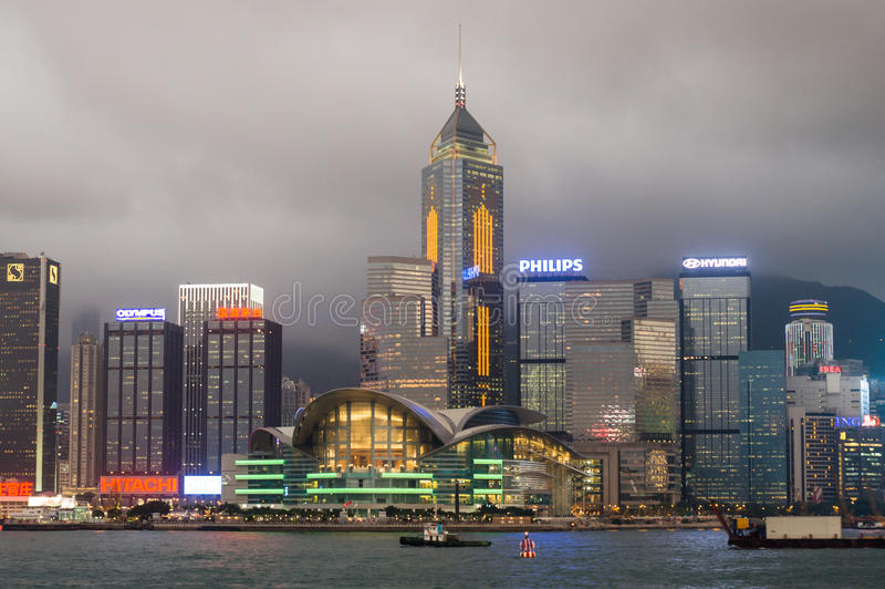 Hong Kong Victoria Harbour stock image