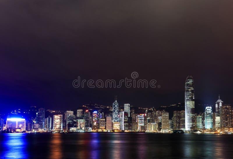 Hong Kong Victoria Harbour Night Scene stock photos