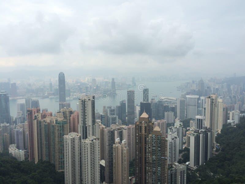 Hong Kong, Victoria peak royalty free stock photos