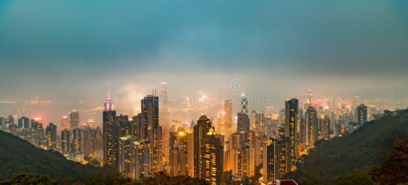 Hong kong the victoria peak stock images