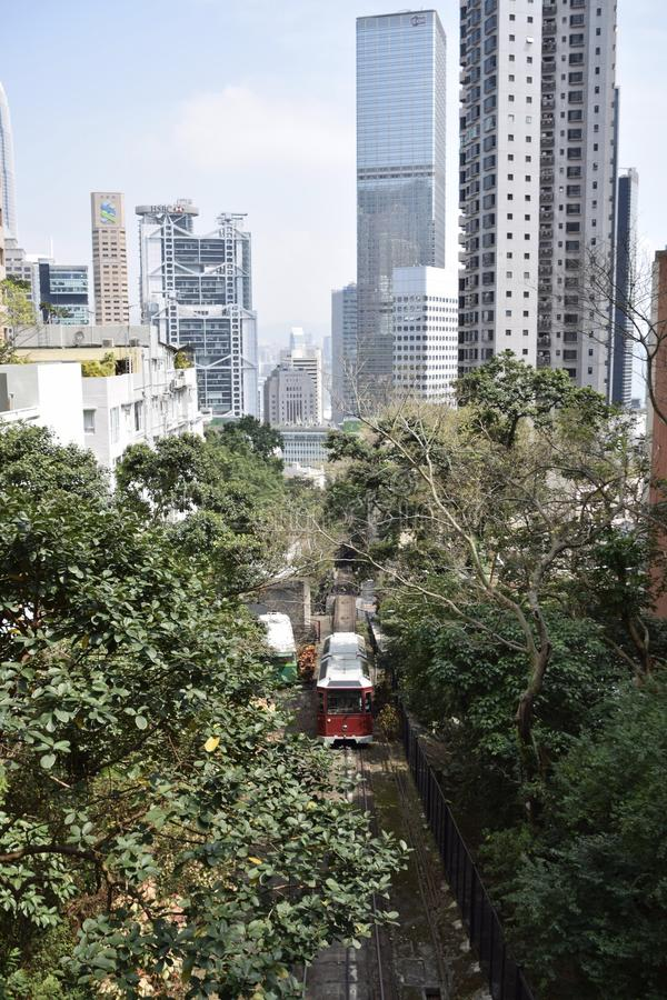 Hong Kong Victoria Peak Tram lizenzfreies stockbild