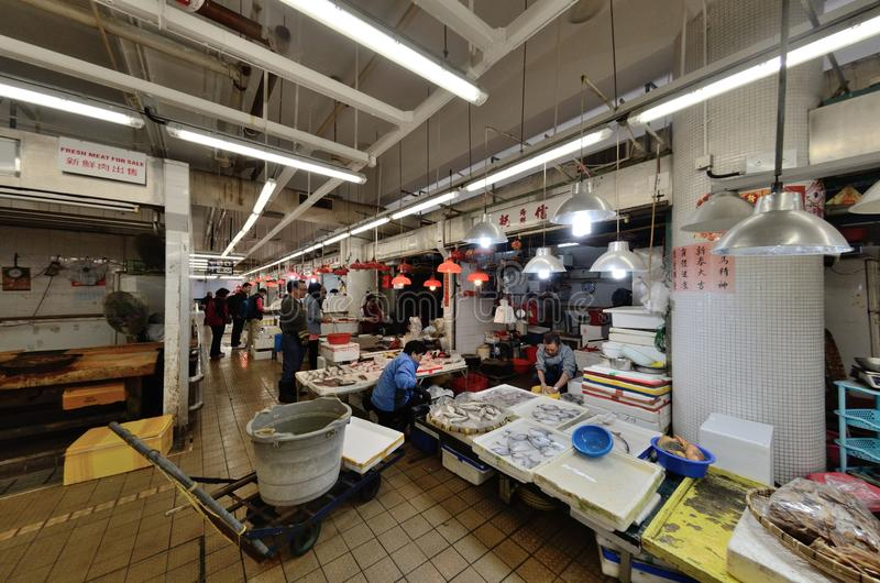Hong Kong-vissenmarkt royalty-vrije stock afbeelding