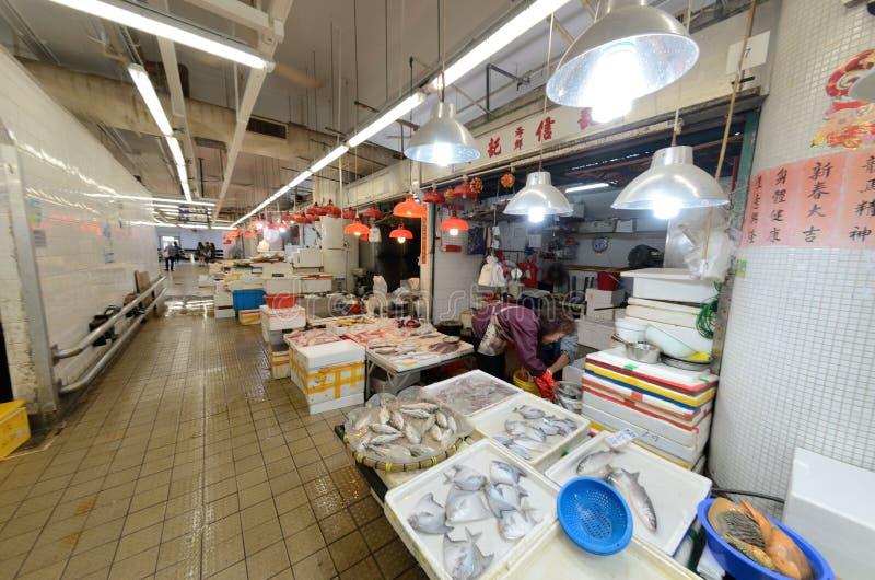 Hong Kong-vissenmarkt royalty-vrije stock foto