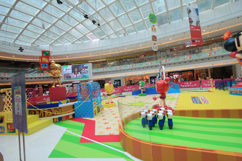 2015 Hong Kong VS Bomberman game event. Hong Kong VS Bomberman game event, located in Metro City Plaza, Hong Kong, on June 18th, 2015. The event aims to promote royalty free stock images