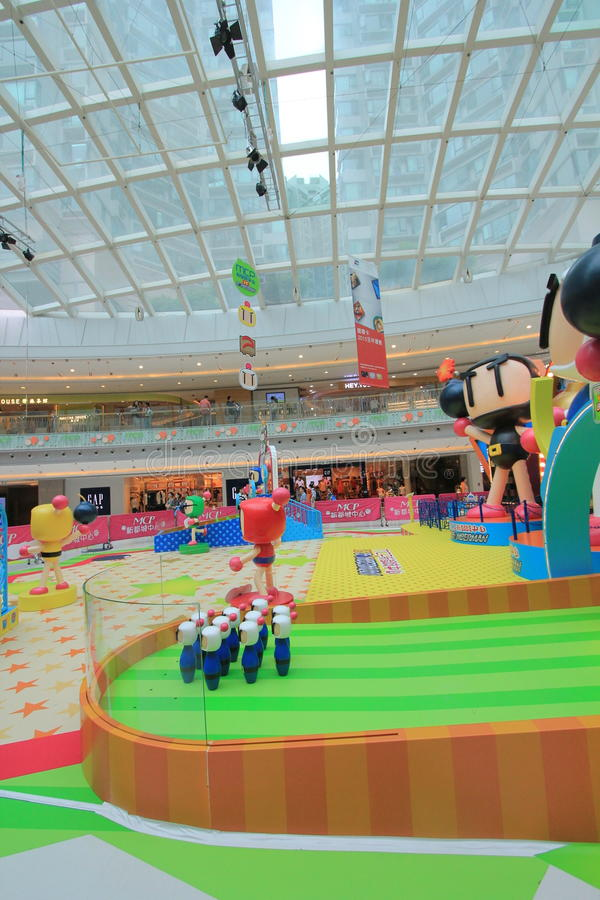 2015 Hong Kong VS Bomberman game event. Hong Kong VS Bomberman game event, located in Metro City Plaza, Hong Kong, on June 18th, 2015. The event aims to promote royalty free stock image