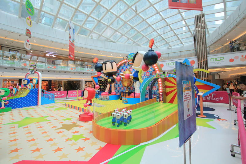 2015 Hong Kong VS Bomberman game event. Hong Kong VS Bomberman game event, located in Metro City Plaza, Hong Kong, on June 18th, 2015. The event aims to promote royalty free stock photo