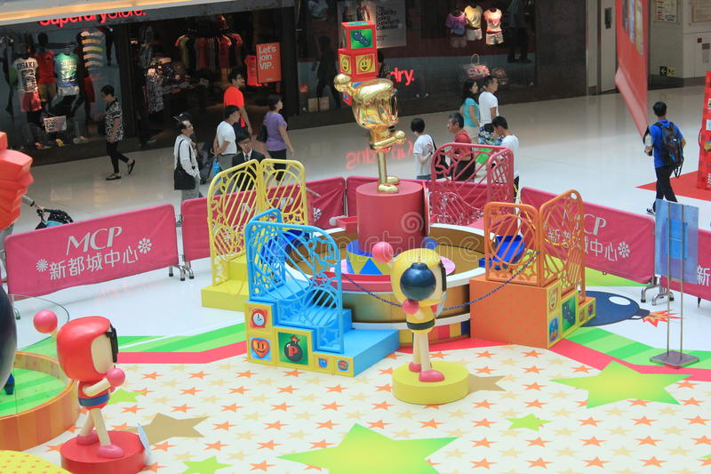 2015 Hong Kong VS Bomberman game event. Hong Kong VS Bomberman game event, located in Metro City Plaza, Hong Kong, on June 18th, 2015. The event aims to promote royalty free stock photos