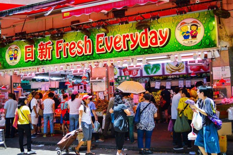 Hong Kong Wan Chai Street-Markt stock afbeeldingen
