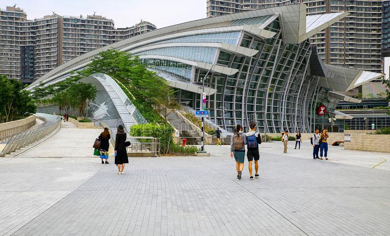 Hong Kong West Kowloon-station stock foto's