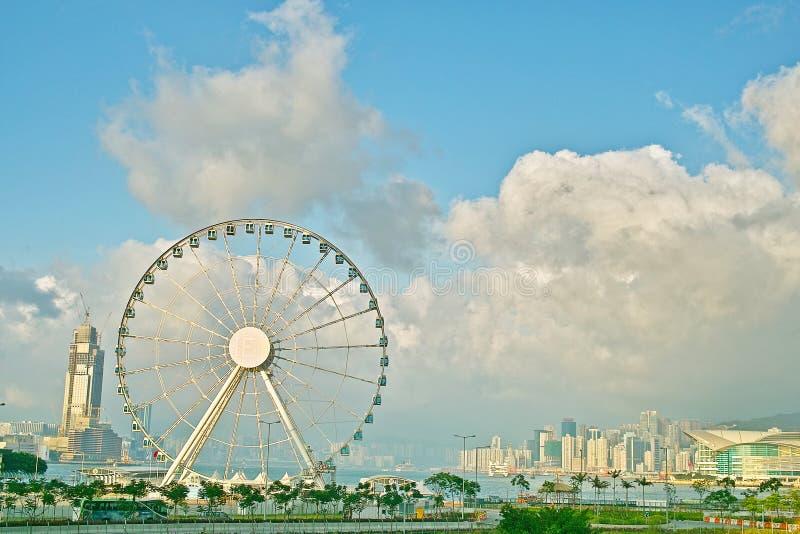 Hong Kong Wheel en central fotos de archivo libres de regalías