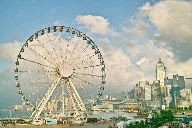 Hong Kong Wheel sulla centrale fotografie stock