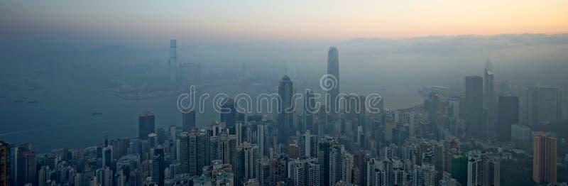 hong kong wschód słońca obrazy royalty free