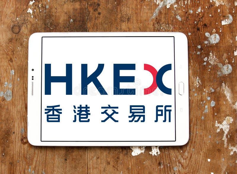 Hong Kong wymiany i polana, HKEX logo zdjęcie stock