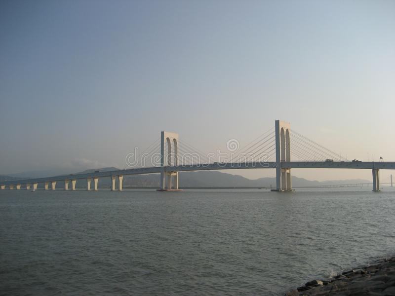 Hong Kong-Zhuhai-Macao Bridge photos stock