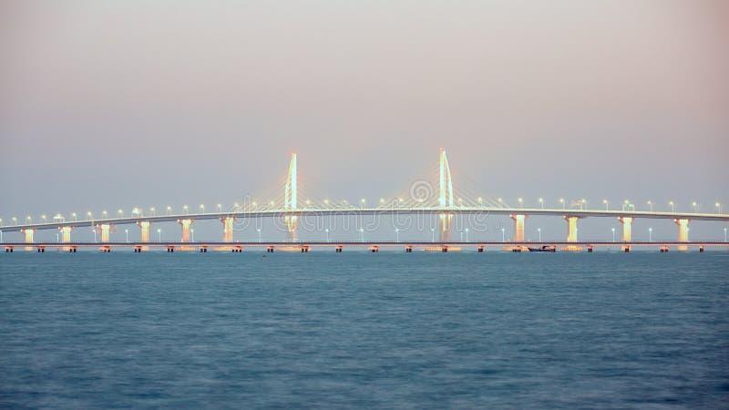 Hong Kong-Zhuhai-Macao Bridge fotografia de stock royalty free