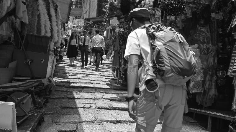 Hong Kong in zwart-wit royalty-vrije stock foto