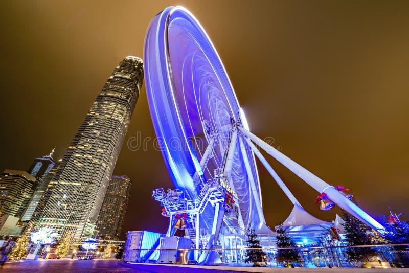 Hong- Kongbeobachtungsrad stockfotografie