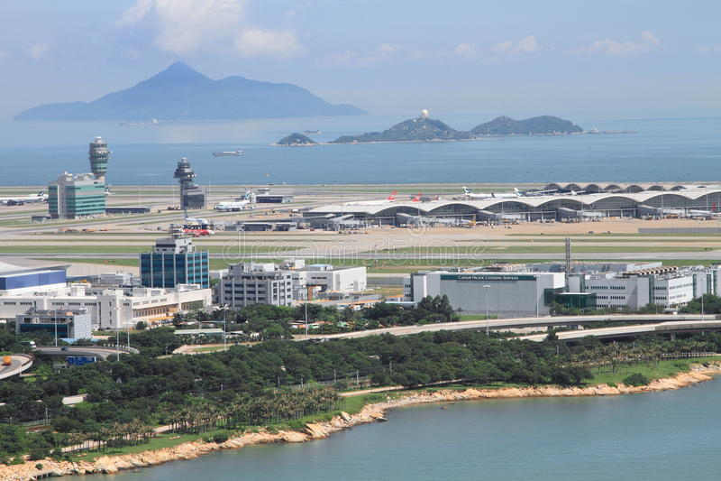 Hong- Konginternationaler Flughafen Redaktionelles Stockfotografie