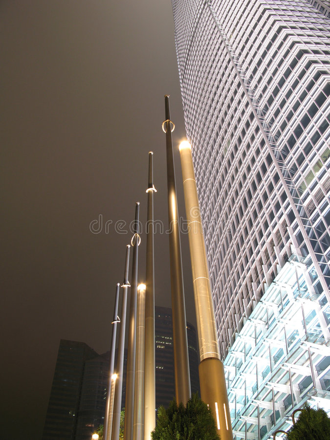 Hong- Kongnachtszenen von IFC lizenzfreies stockfoto