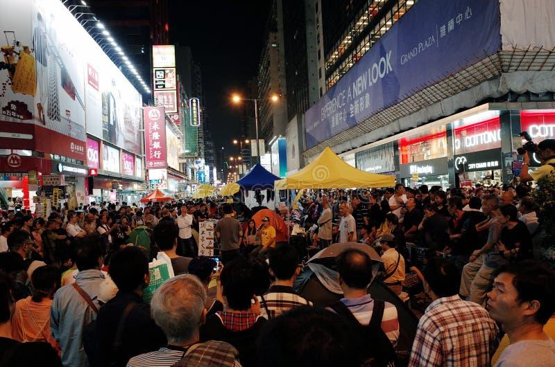 Hong- Kongprotestierenderdistanzhülse 2014 lizenzfreie stockfotos