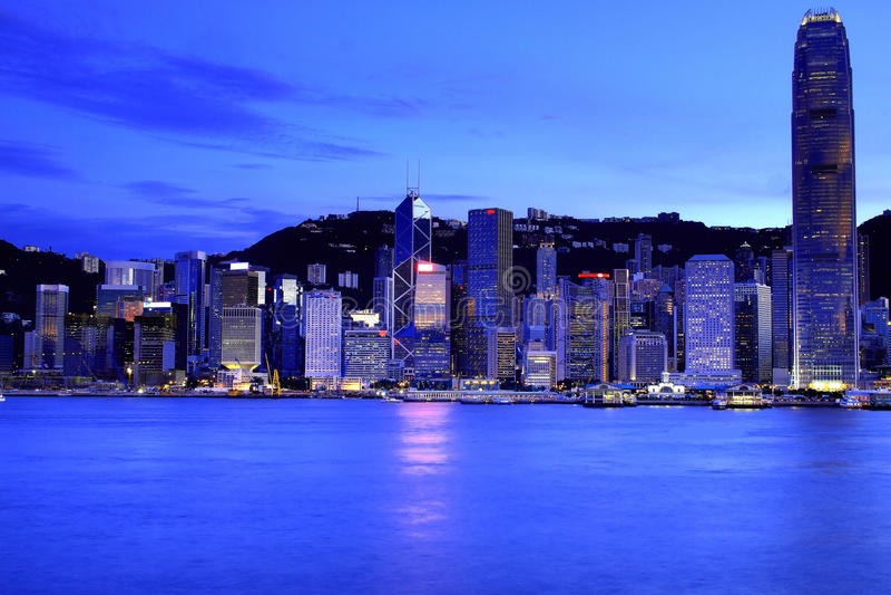 Hong- KongSkyline lizenzfreie stockfotos