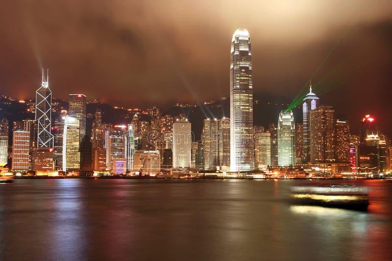 Hong- KongSkyline stockbilder