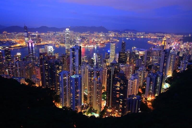 Hong- KongSkyline stockfotos