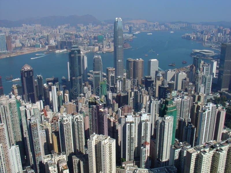 Hong- KongSkyline von der Spitze lizenzfreie stockfotos