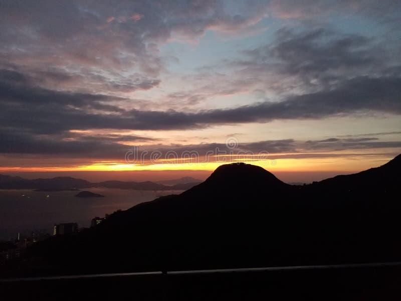Hong- Kongsonnenuntergang lizenzfreies stockbild