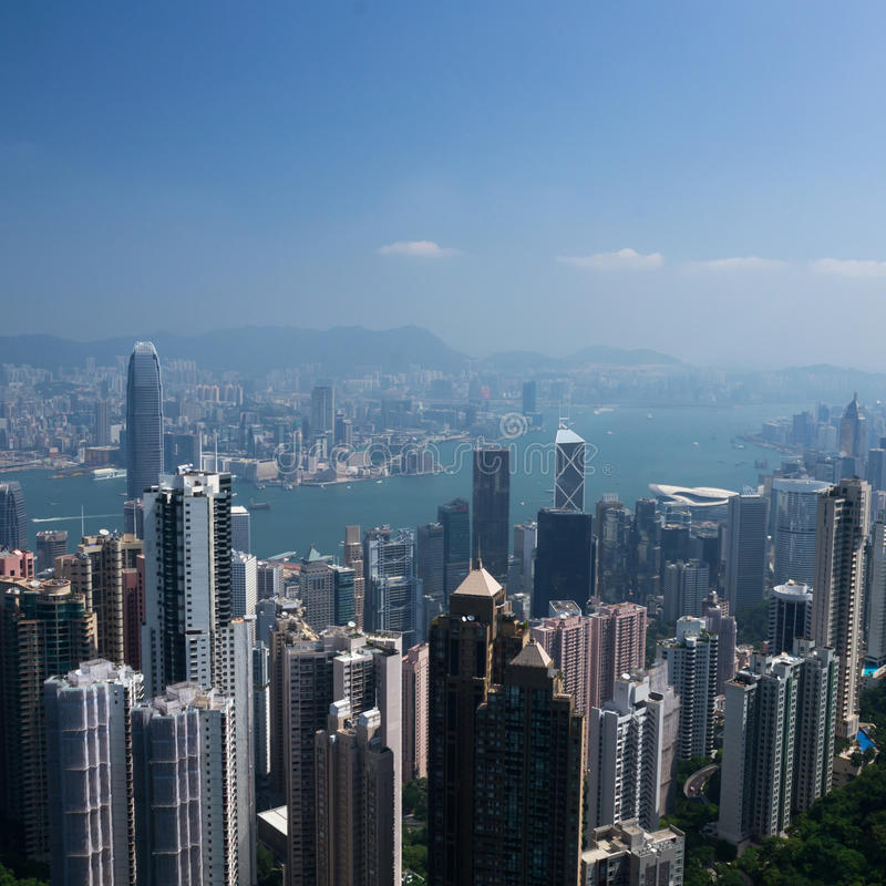 Hong- Kongstadt stockfoto