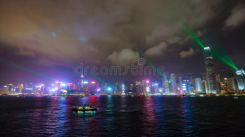 Hong- Kongstadt-Skyline lizenzfreie stockbilder