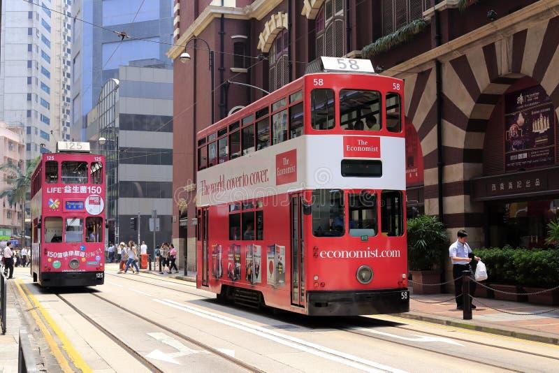 Hong- Kongstraßenbahn lizenzfreie stockfotos