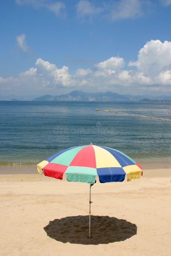 Hong kongu plażowy parasolkę fotografia stock