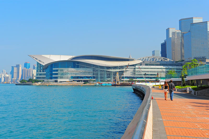 Hong- Kongversammlung und Ausstellungmitte lizenzfreie stockfotografie