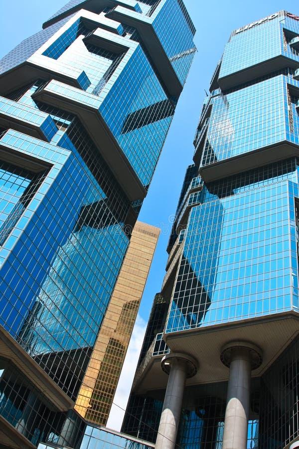 Hong- Kongwolkenkratzer lizenzfreies stockbild