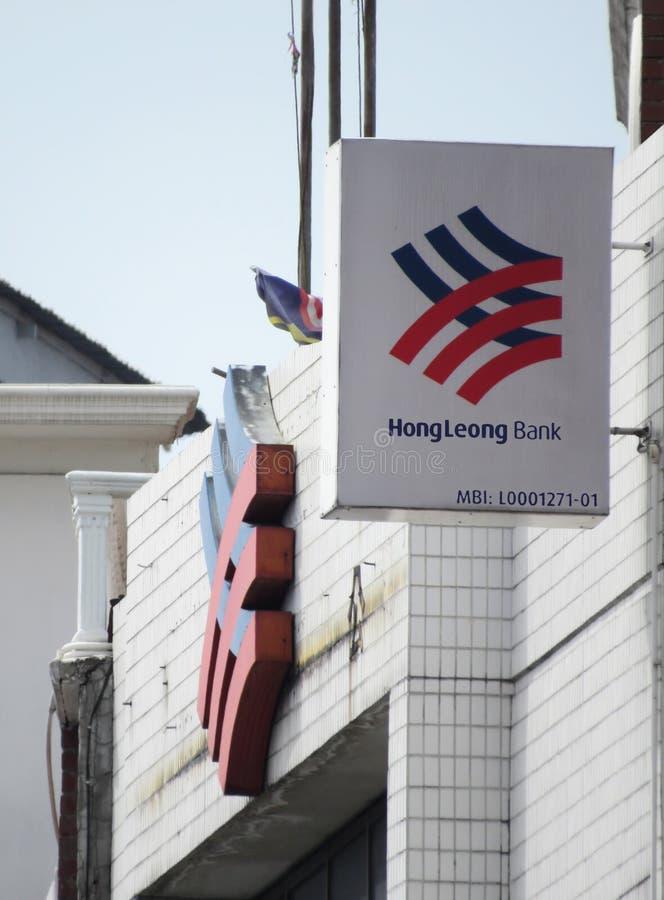 Hong Leong Bank Signboard And Logo. At the Jalan Yang Kalsom branch, Ipoh, Perak, Malaysia royalty free stock image