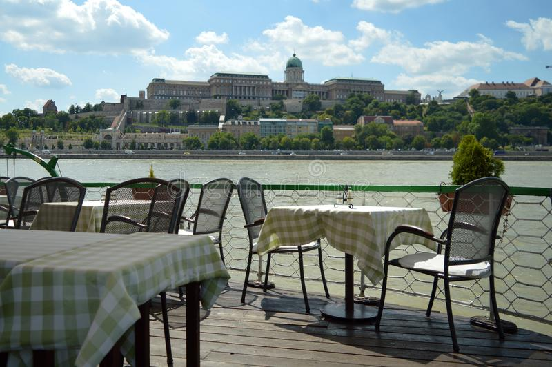 Hongaars bootrestaurant stock fotografie