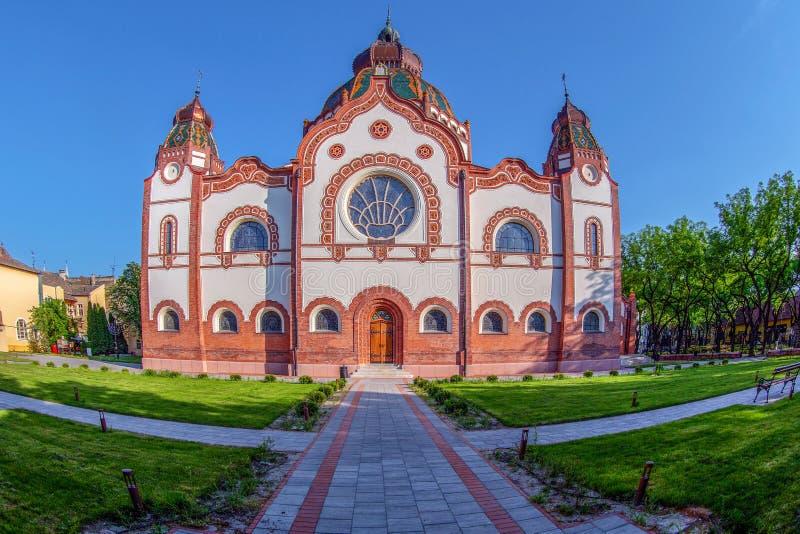 Hongaarse Art Nouveau-synagoge in Subotica, Servië royalty-vrije stock foto's