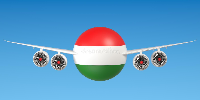 Hongaarse luchtvaartlijnen en flying& x27; s concept het 3d teruggeven vector illustratie