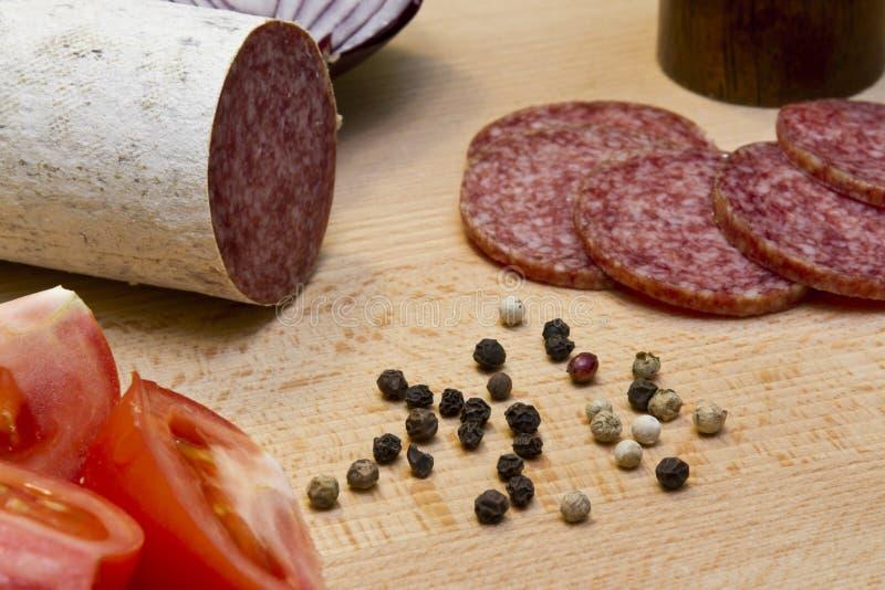 Hongaarse salami stock fotografie