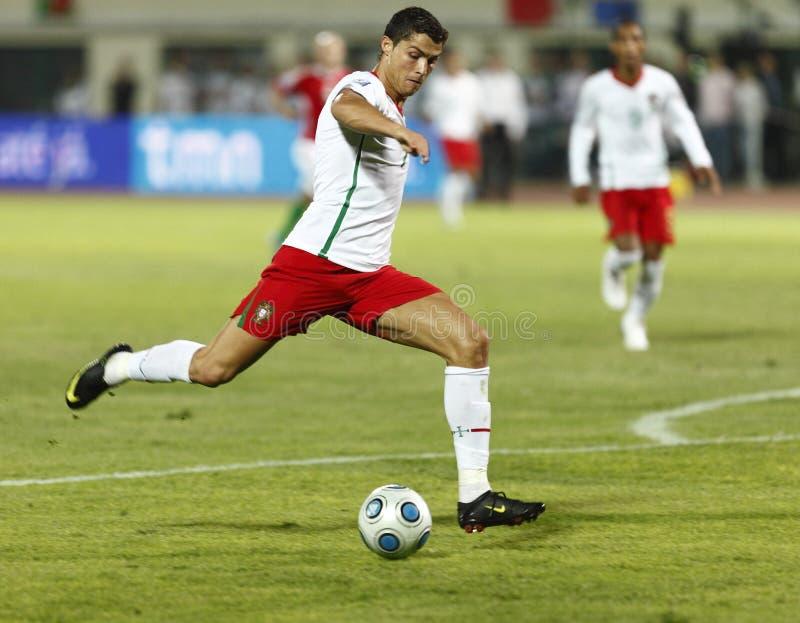 Hongarije versus het 0:1 van Portugal, het Bepalende woord van de Kop van de Wereld van FIFA stock foto