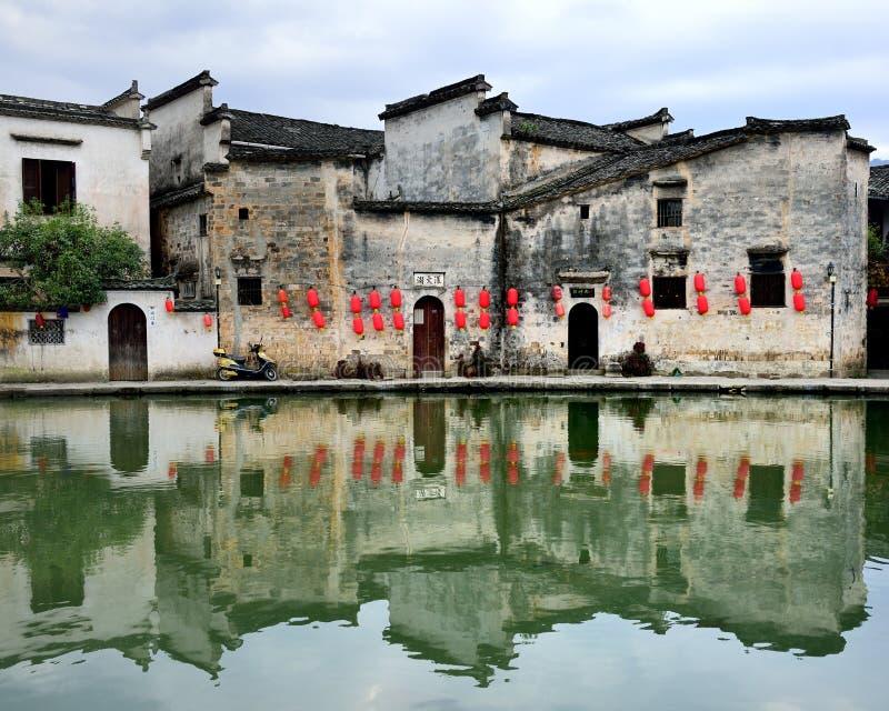 Hongcun, Anhui-provincie, China stock afbeelding