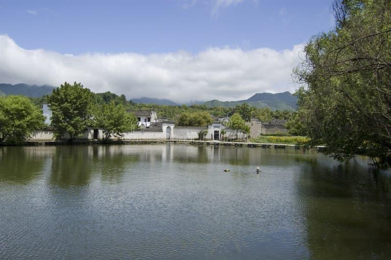 Hongcun south lake 2. A view of south lake at Hongcun, China royalty free stock images