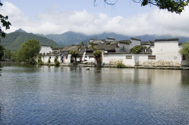 Hongcun south lake. South lake at Hongcun, China stock photo