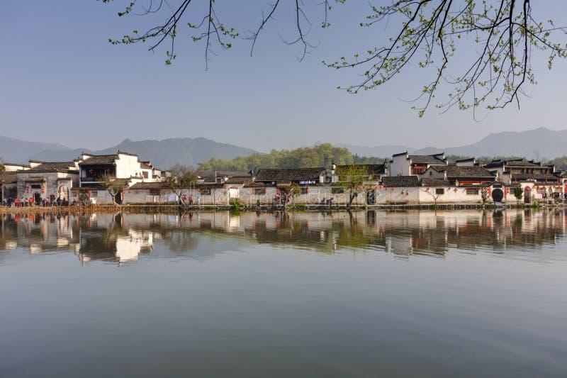 Hongcun, vila antiga no Sul da China fotografia de stock